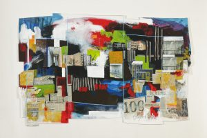 100 ans peinture collage dessin sur toile 2010
