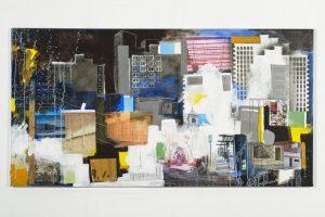 La-ville-ouvriere-peinture-collage-toile2010
