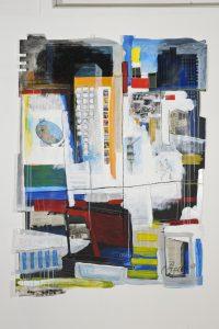 Avenue-du-Parc-peinture-collage-sur-papier2010