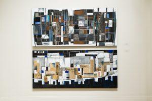 Ville-de-nuit-Ville-de-jour-peinture-collage-dessin-sur-bois-2008